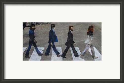 Ghosts Of Abby Road Framed Print By Debra And Dave Vanderlaan
