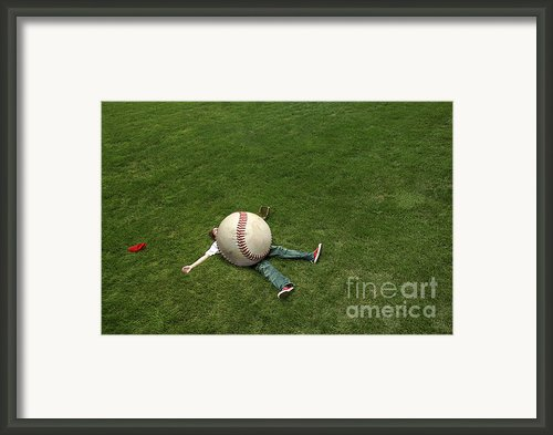 Giant Baseball Framed Print By Diane Diederich
