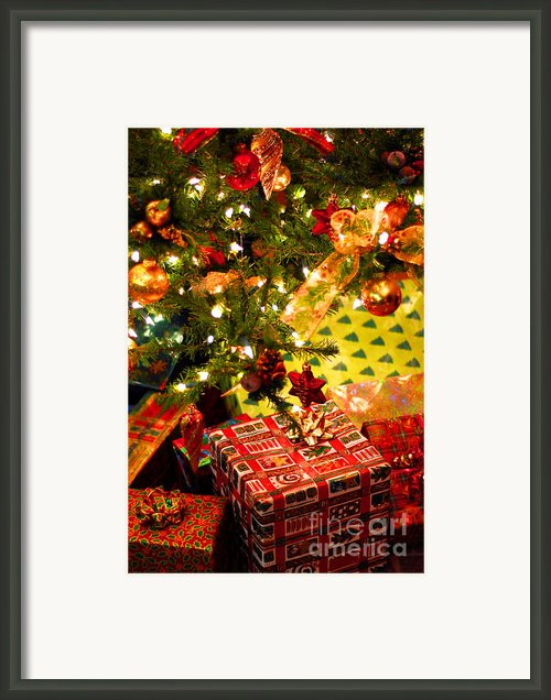 Gifts Under Christmas Tree Framed Print By Elena Elisseeva