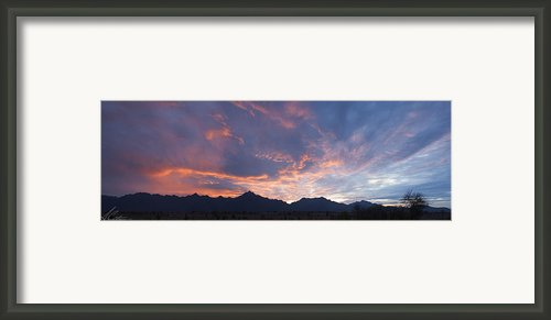 Gila River Indian Sunset Pano Framed Print By Anthony Citro