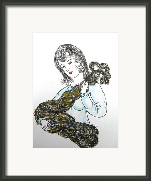 Girl And Tow Framed Print By Marwan George Khoury