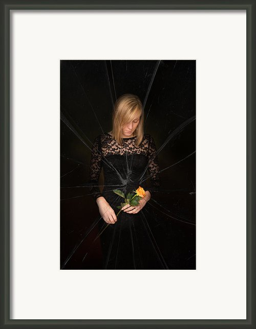 Girl Holding Rose Framed Print By Christopher And Amanda Elwell