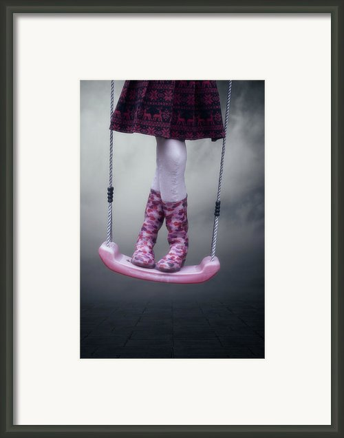 Girl Swinging Framed Print By Joana Kruse
