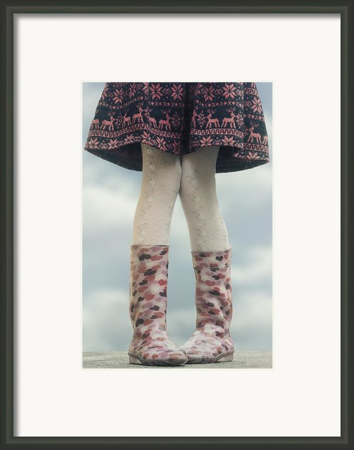 Girl With Wellies Framed Print By Joana Kruse