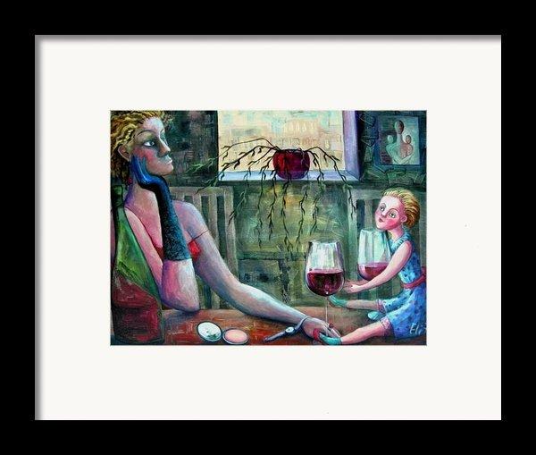 Girls Party Framed Print By Elisheva Nesis