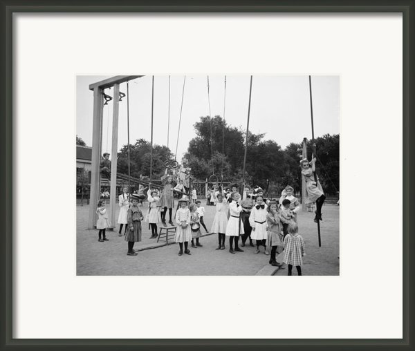 Girls Playground 1899 Framed Print By Stefan Kuhn
