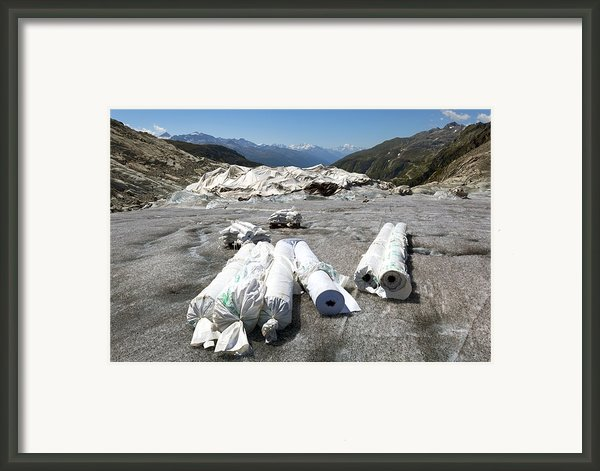 Glacier Protection Framed Print By Science Photo Library