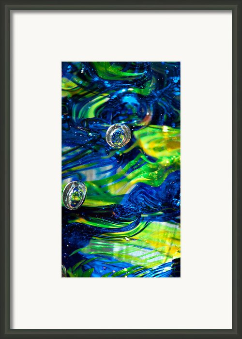 Glass Macro - 13e4 Framed Print By David Patterson
