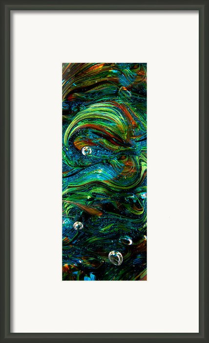 Glass Macro Abstract 13e7 Framed Print By David Patterson