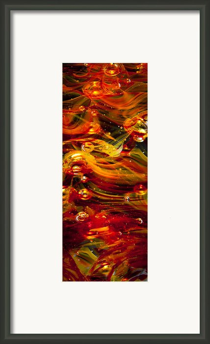 Glass Macro Abstract - Molten Fire Framed Print By David Patterson