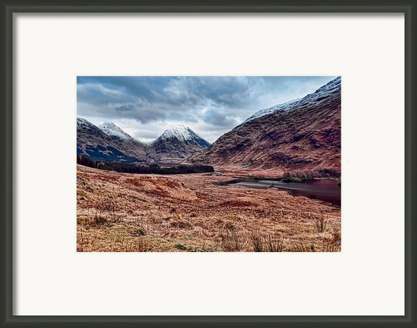 Glen Etive Scotland Framed Print By Walter Hampson