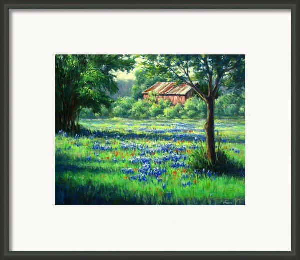 Glen Rose Bluebonnets Framed Print By Vickie Fears