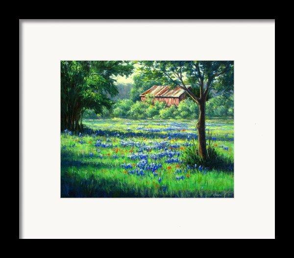 Glen Rose Bluebonnets Framed Print By Vickie Fears