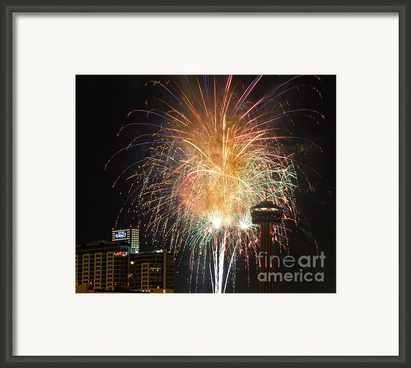 Glitter In The Sky Framed Print By Cathy Alba