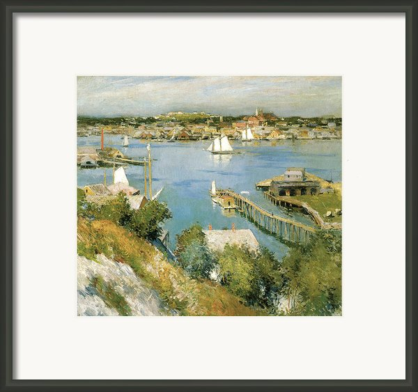 Gloucester Harbour Framed Print By William Leroy Metcalf