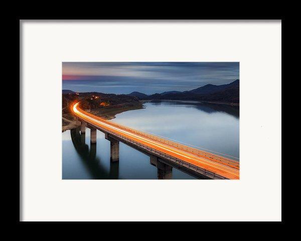 Glowing Bridge Framed Print By Evgeni Dinev