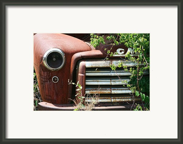 Gmc Grill Work Framed Print By Kathy Clark
