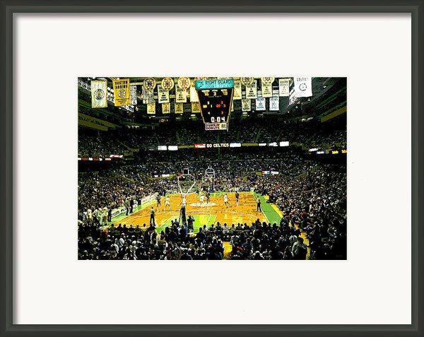 Go Celtics Framed Print By David Schneider