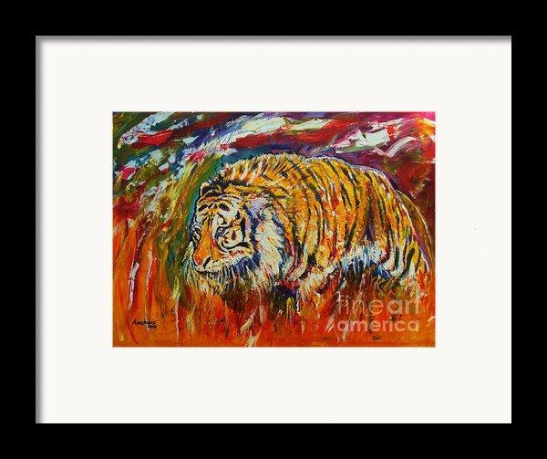 Go Get Them Tiger Framed Print By Anastasis  Anastasi