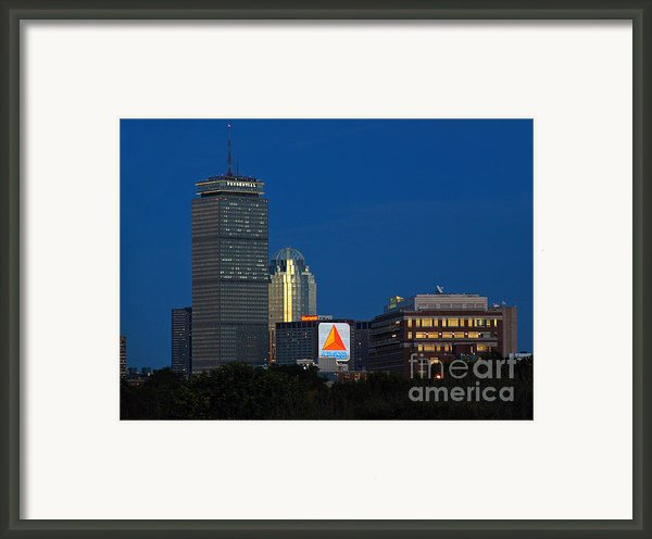 Go Red Sox Framed Print By Juergen Roth