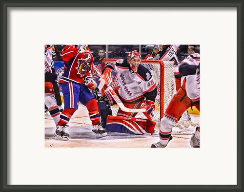 Goaltending Framed Print By Karol  Livote