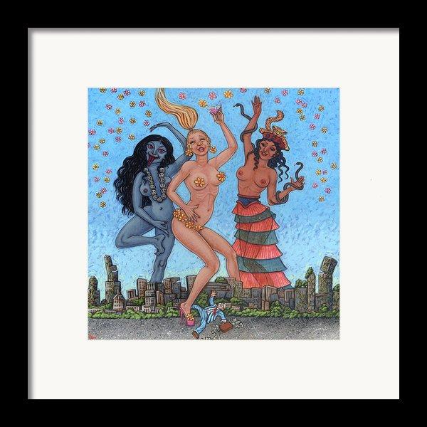 Goddess Dance Framed Print By Holly Wood