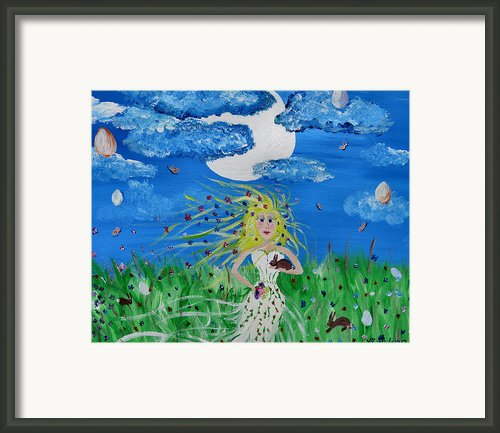 Goddess Eostre Framed Print By Michelle Milano