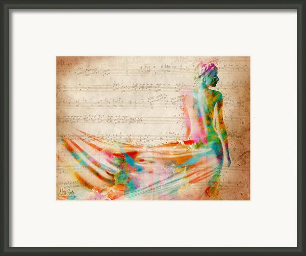Goddess Of Music Framed Print By Nikki Smith