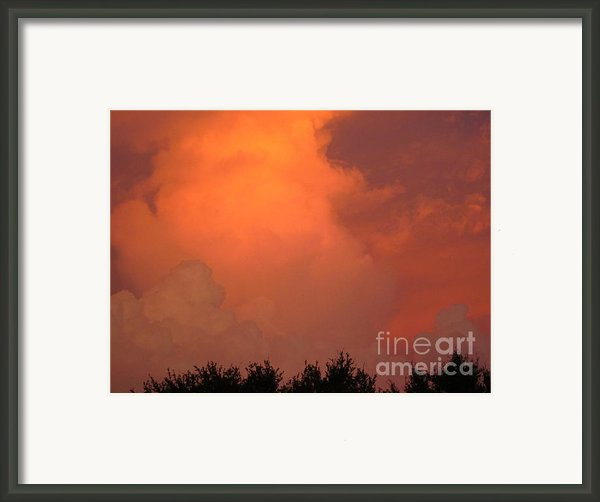 Going Out With A Boom Framed Print By Elizabeth Carr