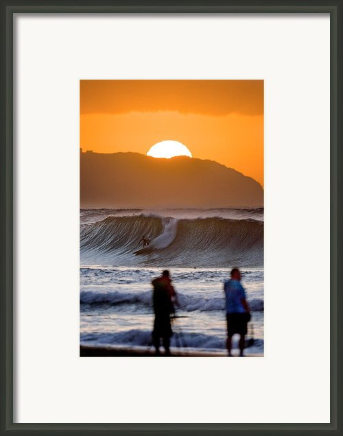 Gold Kaena Sunset Framed Print By Sean Davey