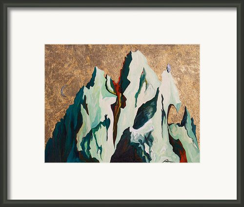 Gold Mountain Framed Print By Joseph Demaree