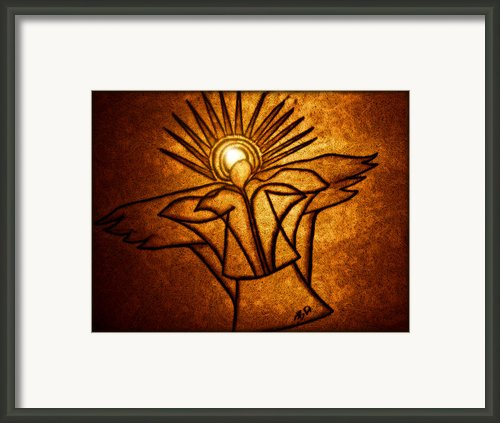 Golden Angels Framed Print By Barbara St Jean