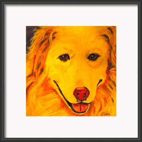 Golden Framed Print By Debi Pople