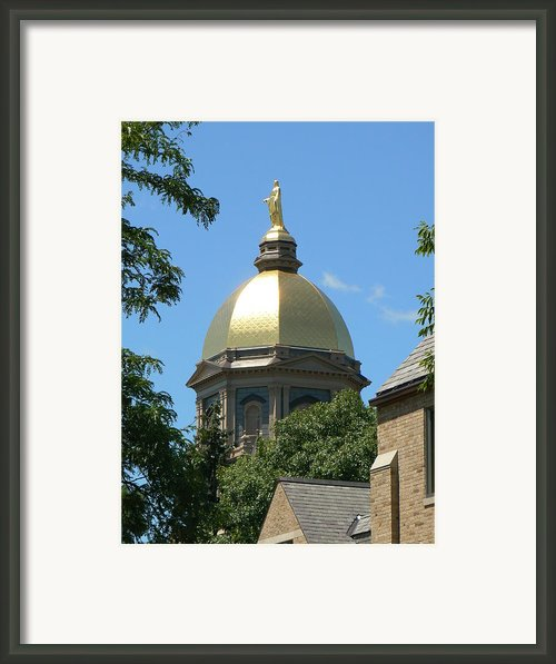 Golden Dome Notre Dame Framed Print By Connie Dye