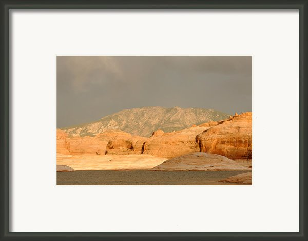 Golden Hour At Lake Powell Framed Print By Julie Niemela