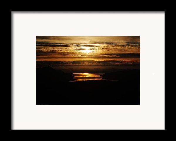 Golden Norse Fjordland Sunset Framed Print By David Broome