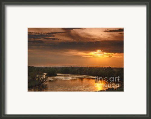 Golden Payette River Framed Print By Robert Bales