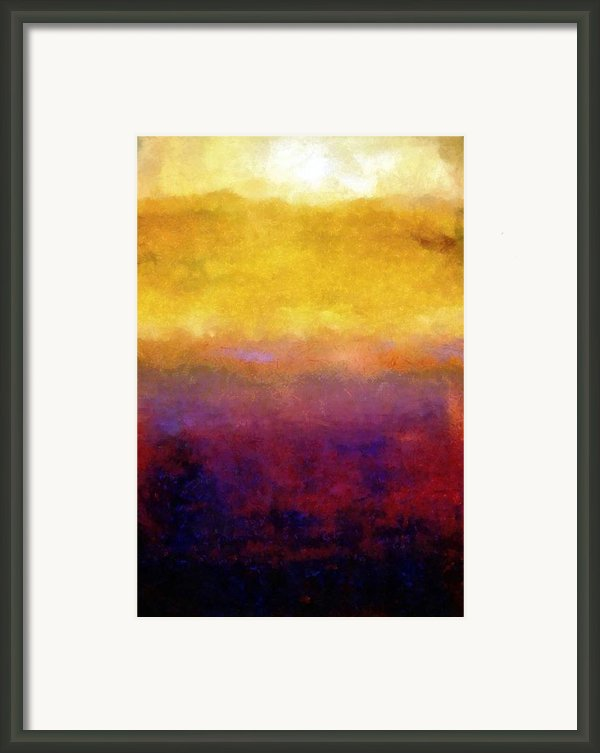 Golden Sunset Framed Print By Michelle Calkins