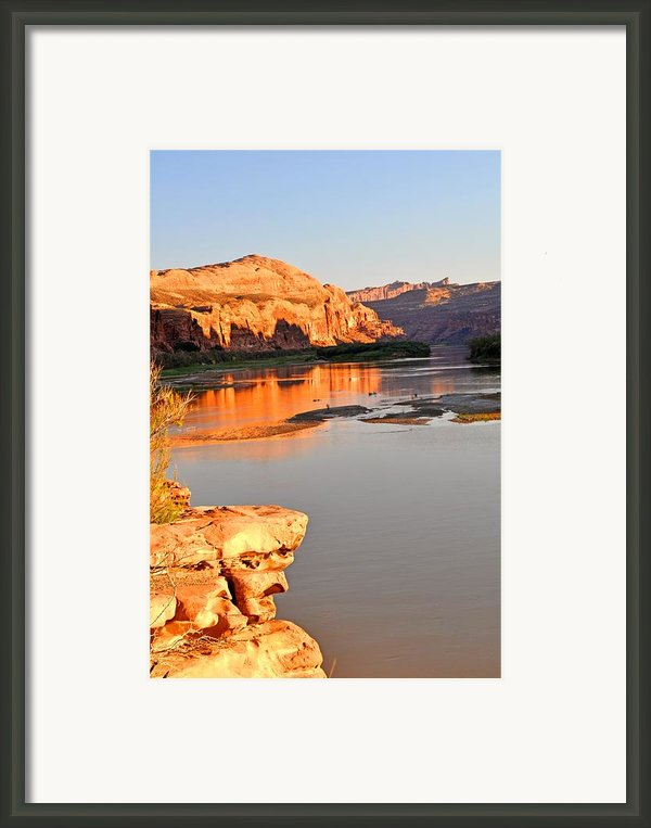 Golden Sunset On The Colorado Framed Print By Marty Koch