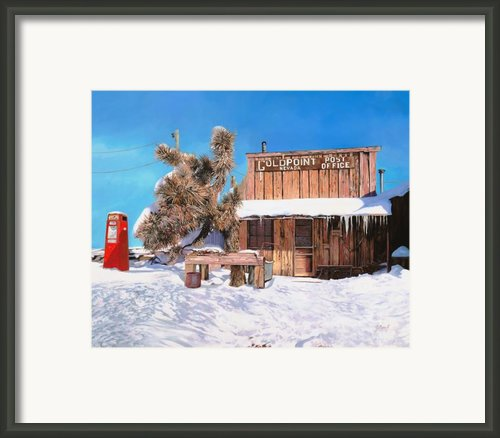 Goldpoint-nevada Framed Print By Guido Borelli
