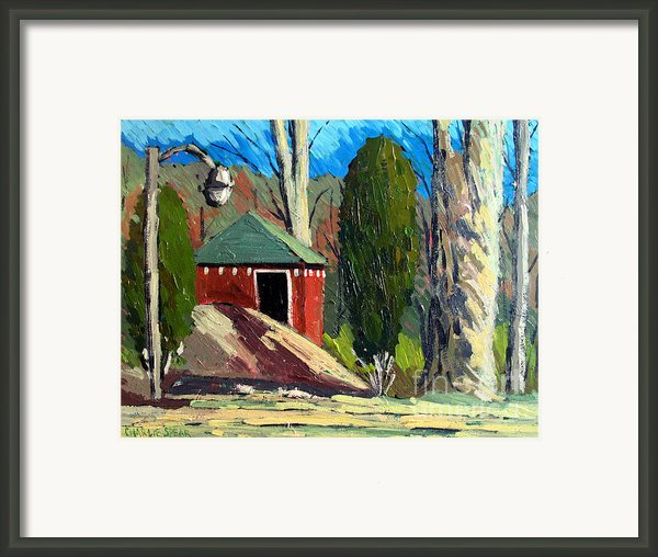 Golf Course Shed Series No.14 Framed Print By Charlie Spear