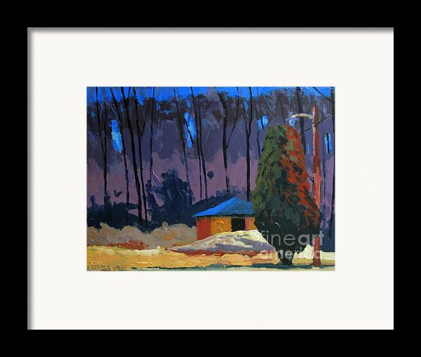 Golf Course Shed Series No.2 Framed Print By Charlie Spear