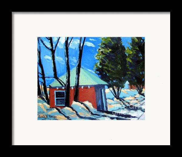 Golf Course Shed Series No.4 Framed Print By Charlie Spear
