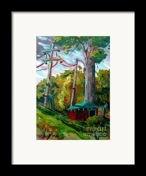 Golf Shed Series No 15 A Synthesis Framed Print By Charlie Spear
