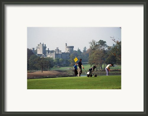 Golfing At Dromoland Castle Framed Print By Carl Purcell