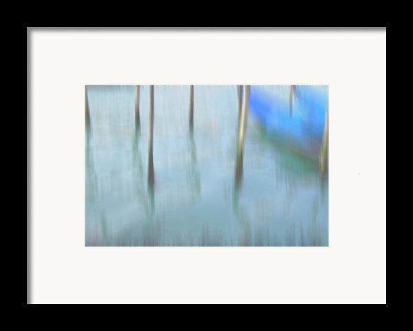 Gondola Poles Framed Print By Marion Galt