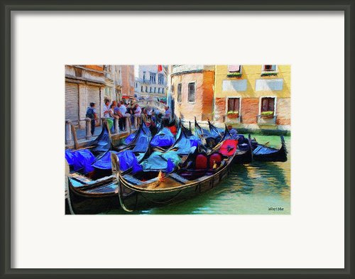 Gondolas Framed Print By Jeff Kolker