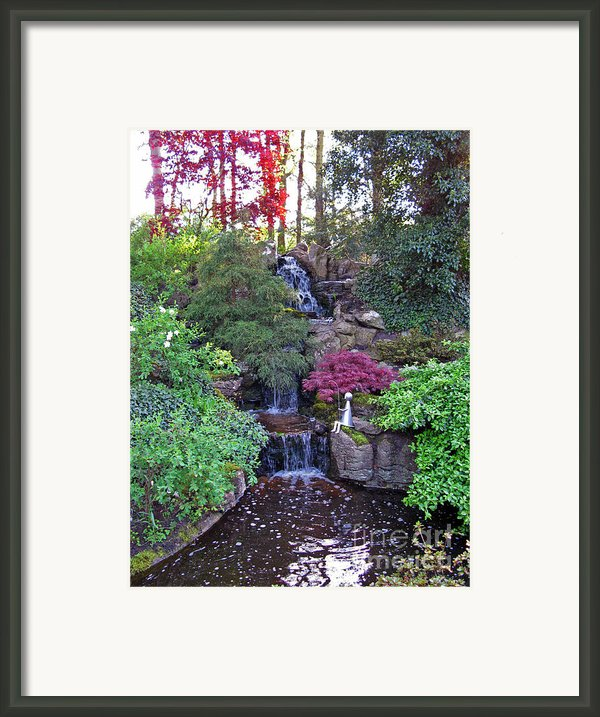 Gone Fishing. Keukenhof Gardens. Holland Framed Print By Ausra Paulauskaite