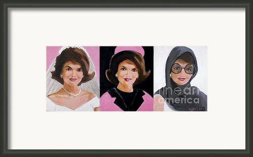 Good And Plenty Jackie O  Framed Print By Candace Lovely