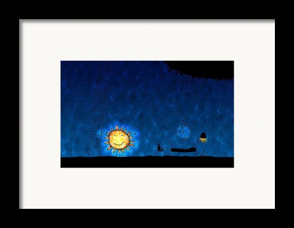 Good Night Sun Framed Print By Gianfranco Weiss